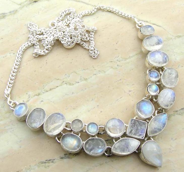 Moonstone Overlay Necklace Jewelry