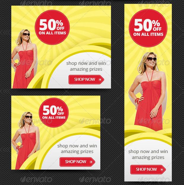 Online Store Web Banner Design