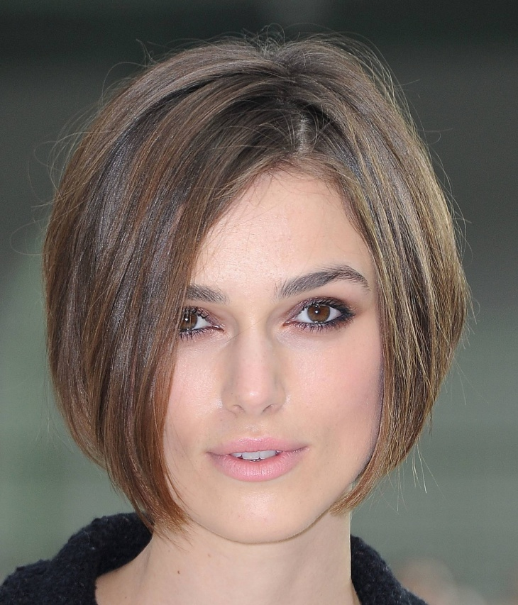 keira knightley brunette bob hair