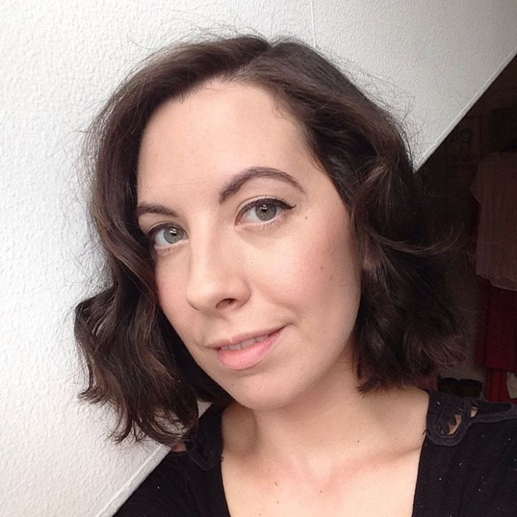 curly brunette bob haircut