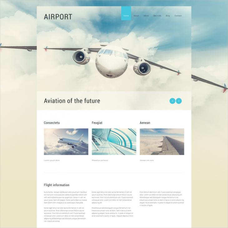 Airline Transportation Joomla Theme