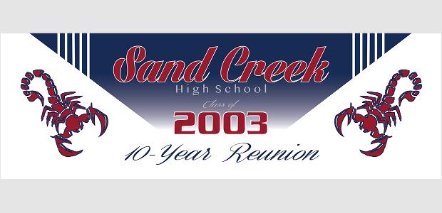 High School Reunion Banner Design