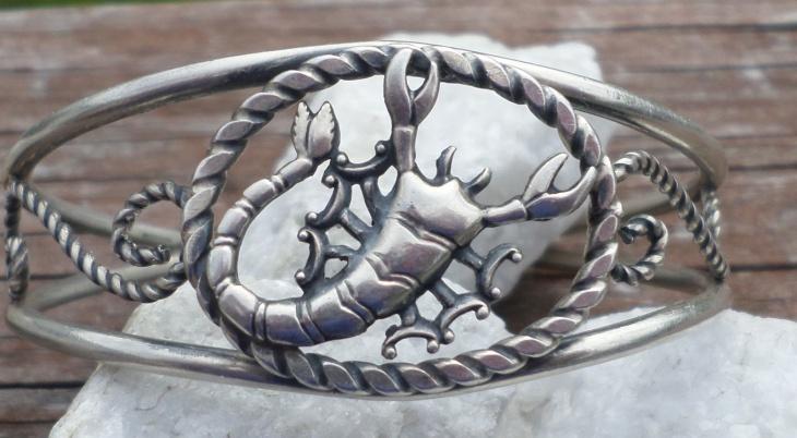 Sterling Silver Scorpion Bracelet