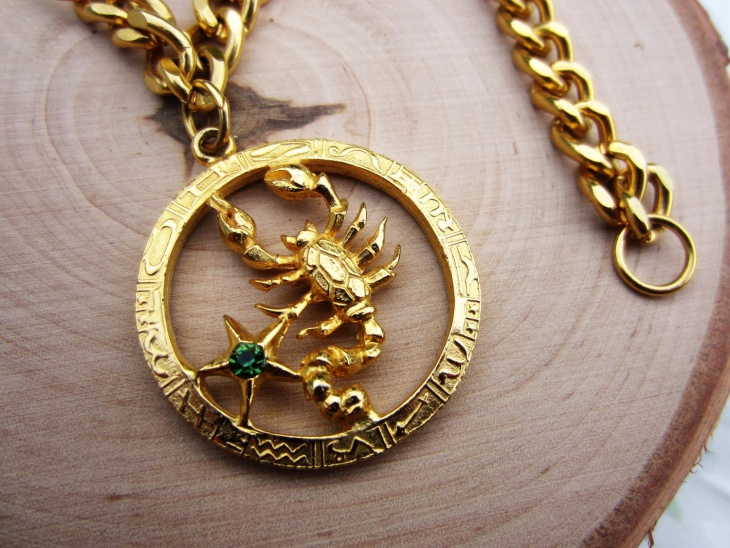 Vintage Gold Scorpio Bracelet