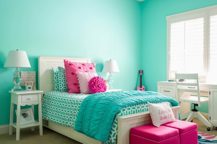 Sky Blue Girl Bedroom Idea