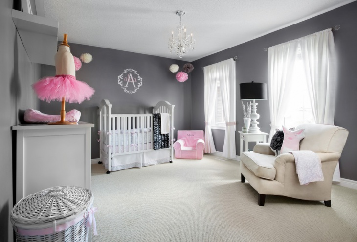 baby girl gray bedroom design