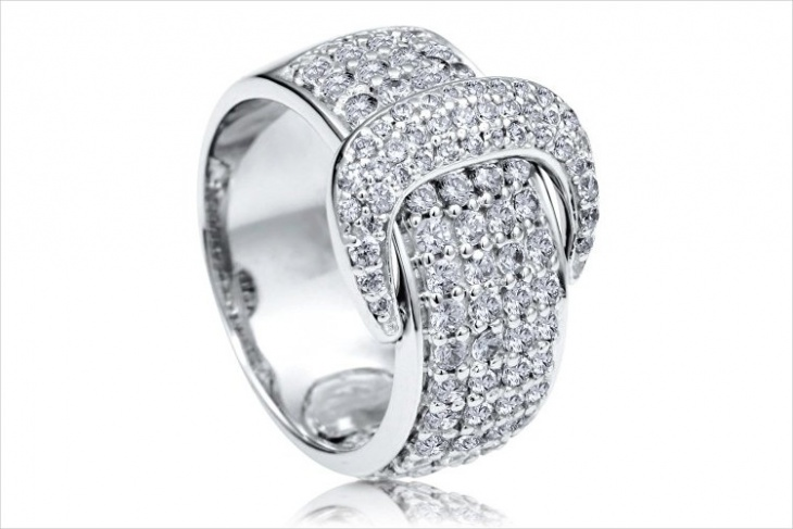 beautiful buckle ring design