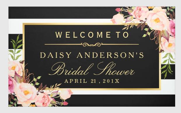 Vintage Bridal shower Banner Design