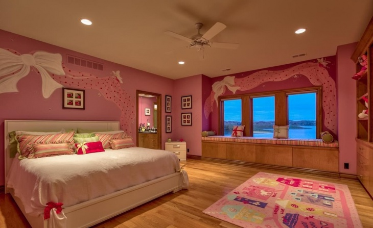 luxury girl bedroom with wall design 1