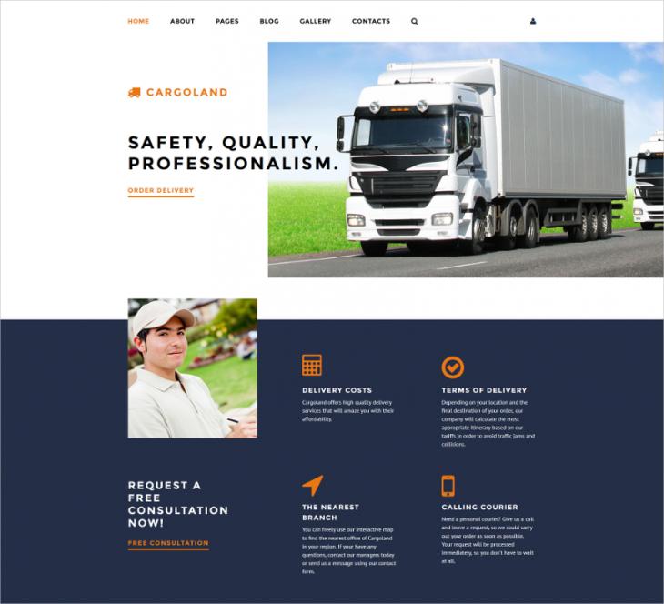Premium Cargo Transport Joomla Template