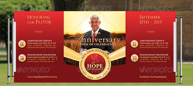 Anniversary Pop-up Banner Design