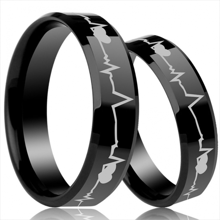 heartbeat wave ring