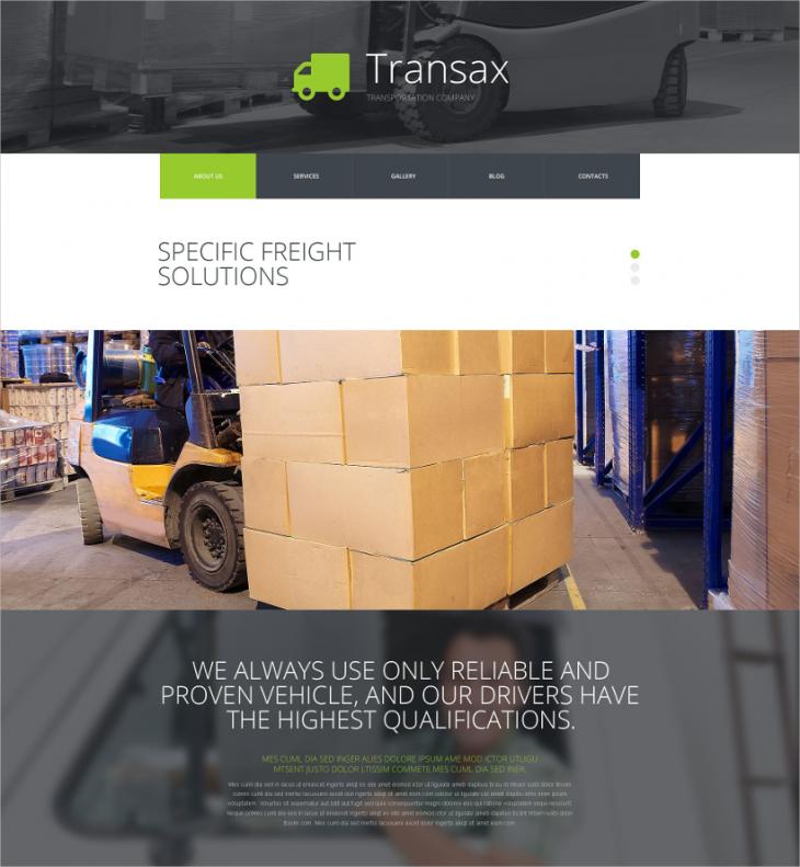 Transport Responsive Joomla Theme