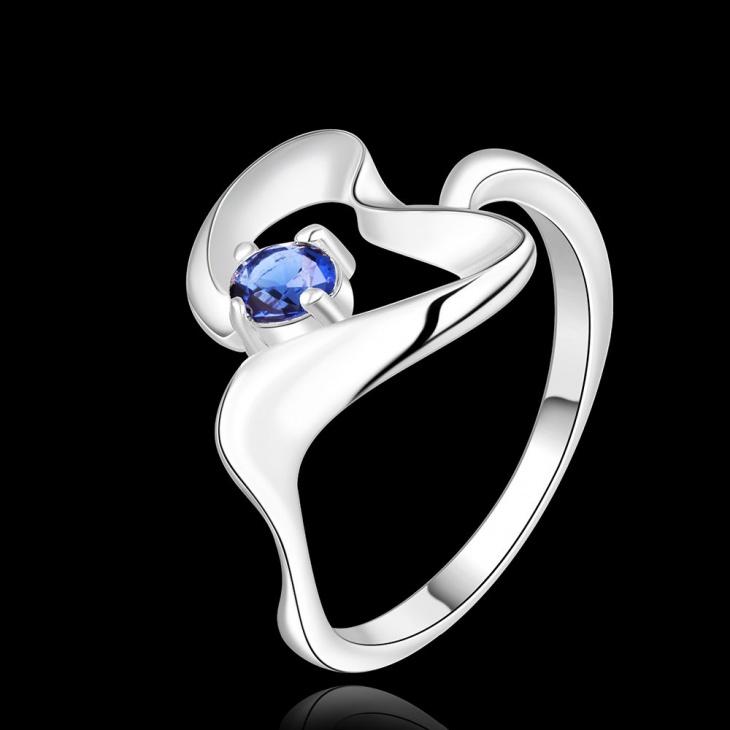 gemstone wave heart shape ring