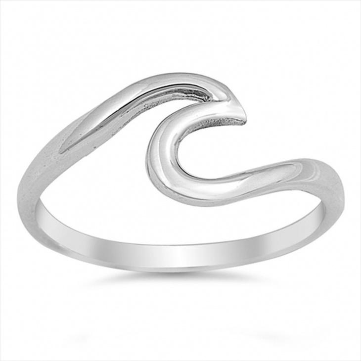 fashion wave ring design