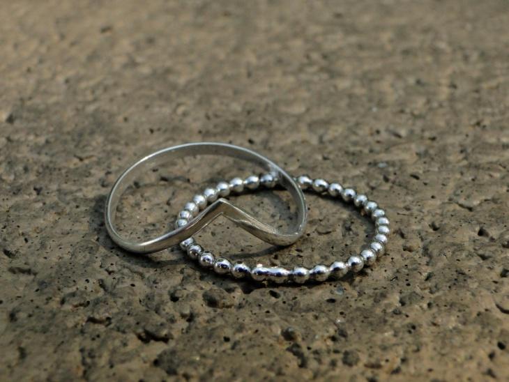 mountain wave stacker ring set