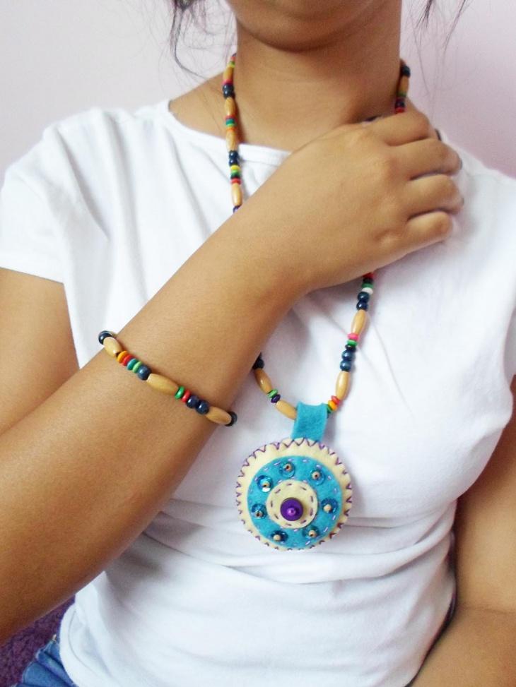 wooden hippie jewelry