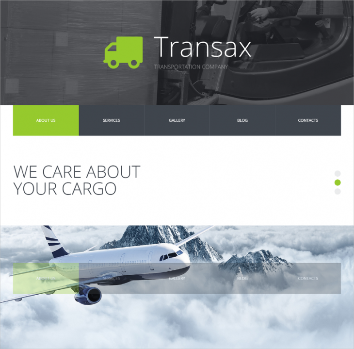 simple transportation joomla template for free
