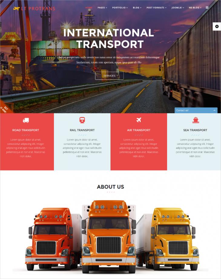 Professional Transportation Services Joomla Theme