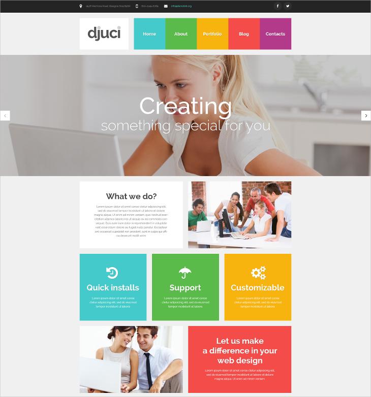 metro style web design responsive wordpress theme1