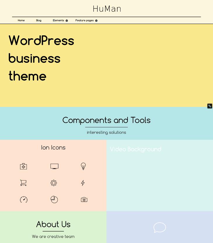 modern metro style wordpress template1