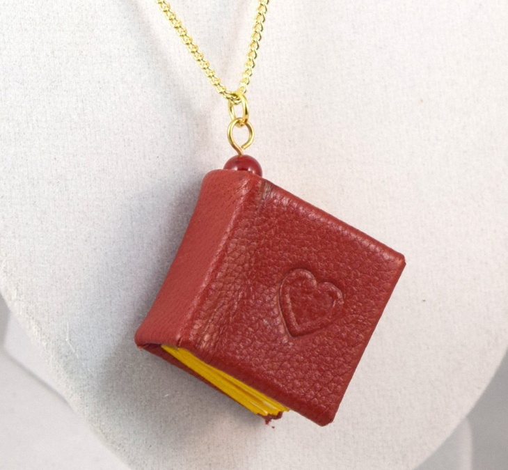 Leather Book Pendant