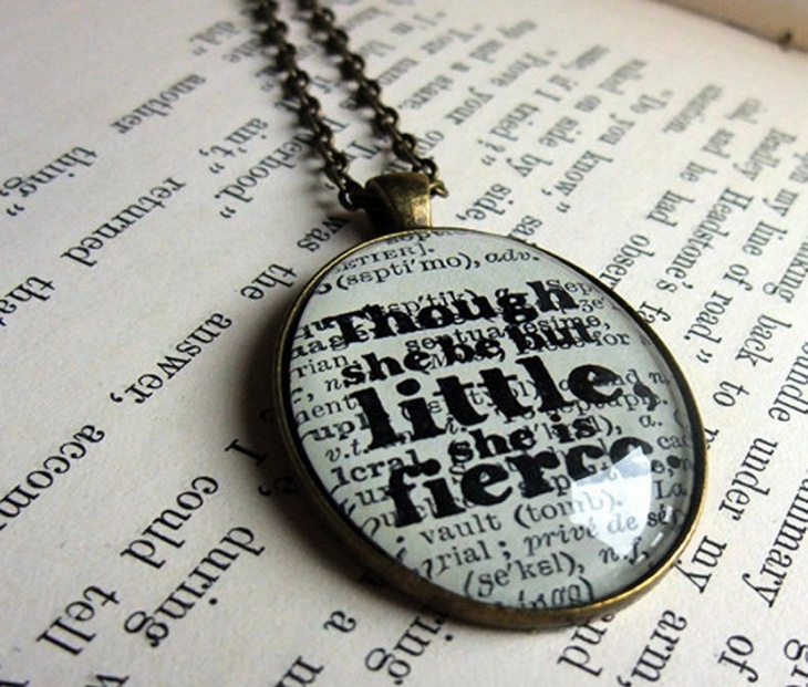 Book Page Pendant Necklace