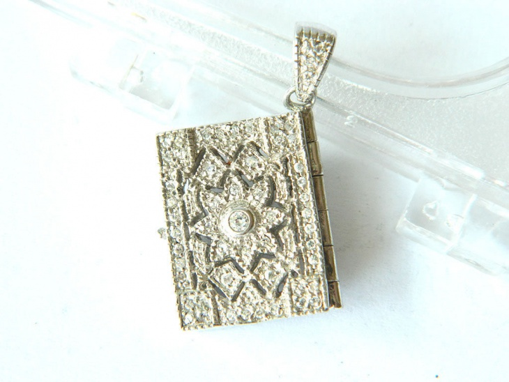 Crystal Book Pendant