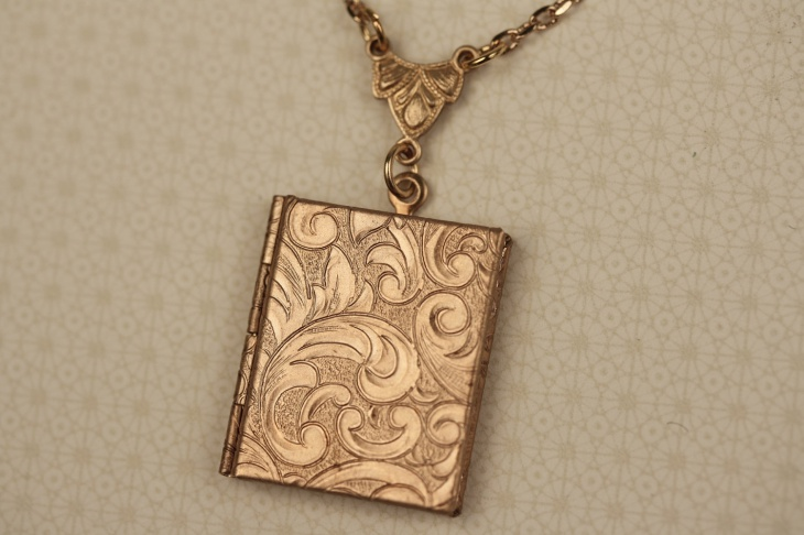 Awesome Gold Book Pendant