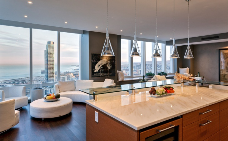 contemporary kitchen pendent light