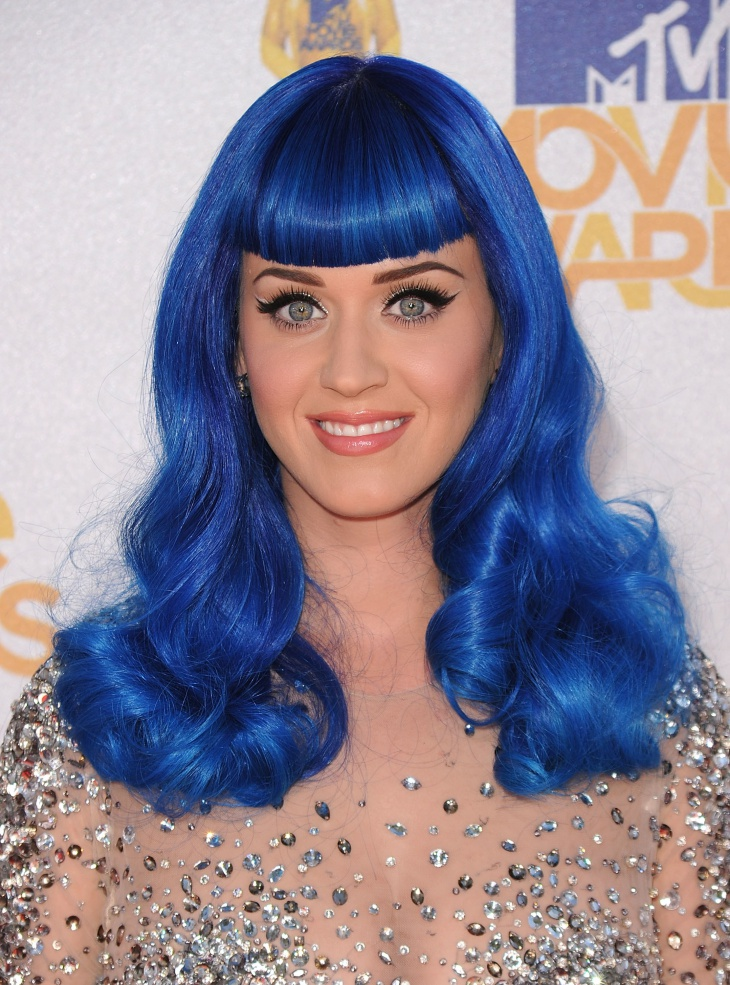 katy perry blue scene hairstyle
