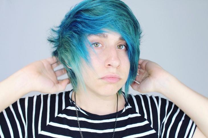 trendy emo boy hairstyle