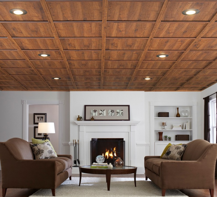 wood drop ceiling idea