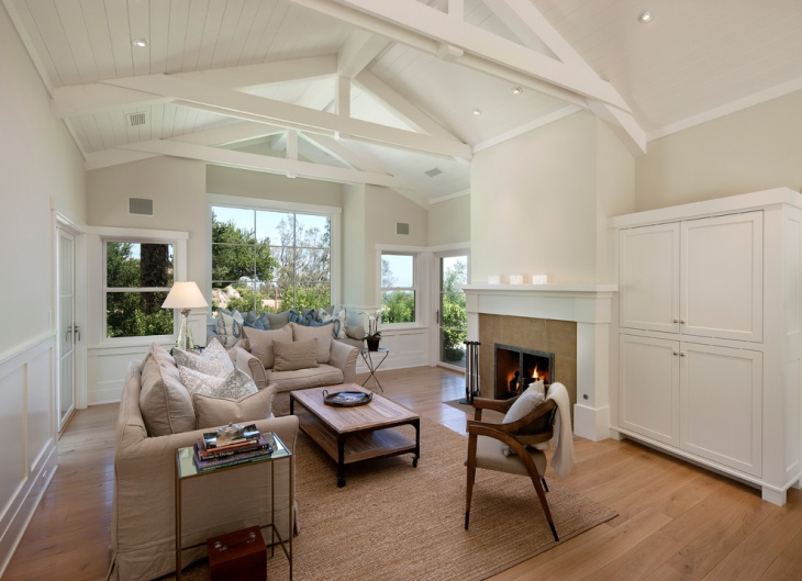 white wood ceiling idea
