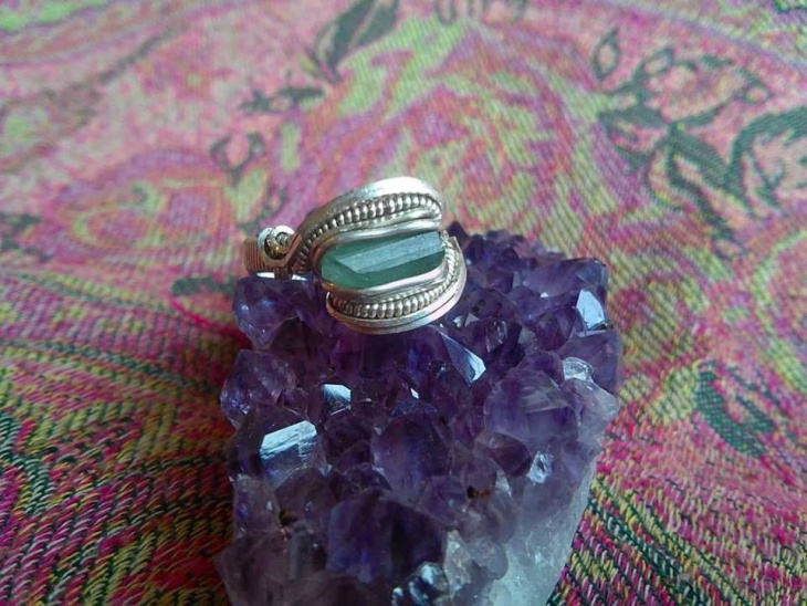 Tourmaline Wire Wrapped Ring