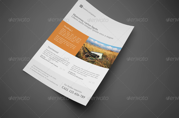 Clean Professional Corporate Flyer Design