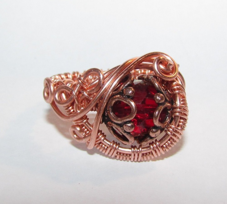 Copper Wire Wrap Ring