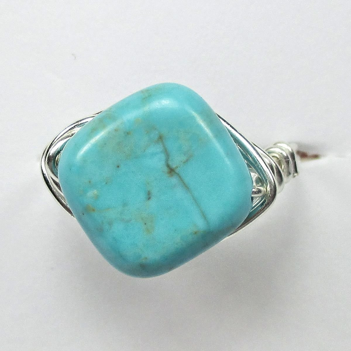 Turquoise Wire Wrap Ring Idea