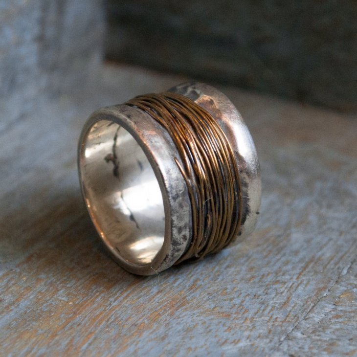 Wire Wrapped Band Ring