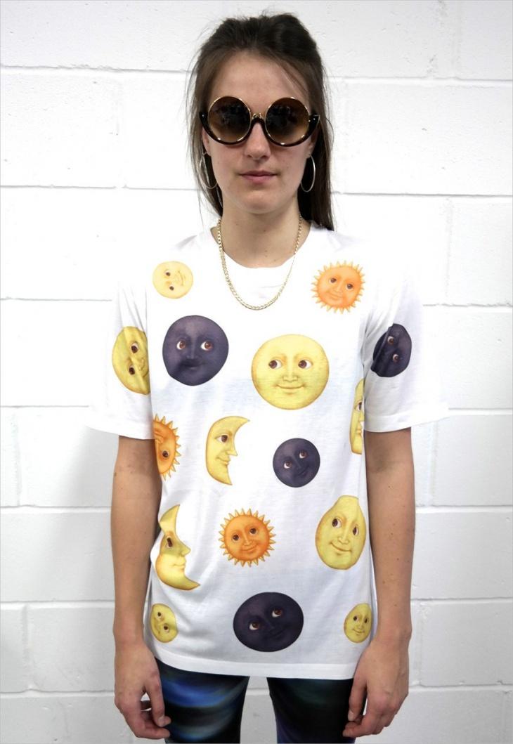 Emoji Moon T Shirt Design