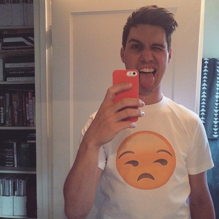 Smirk Emoji T Shirt