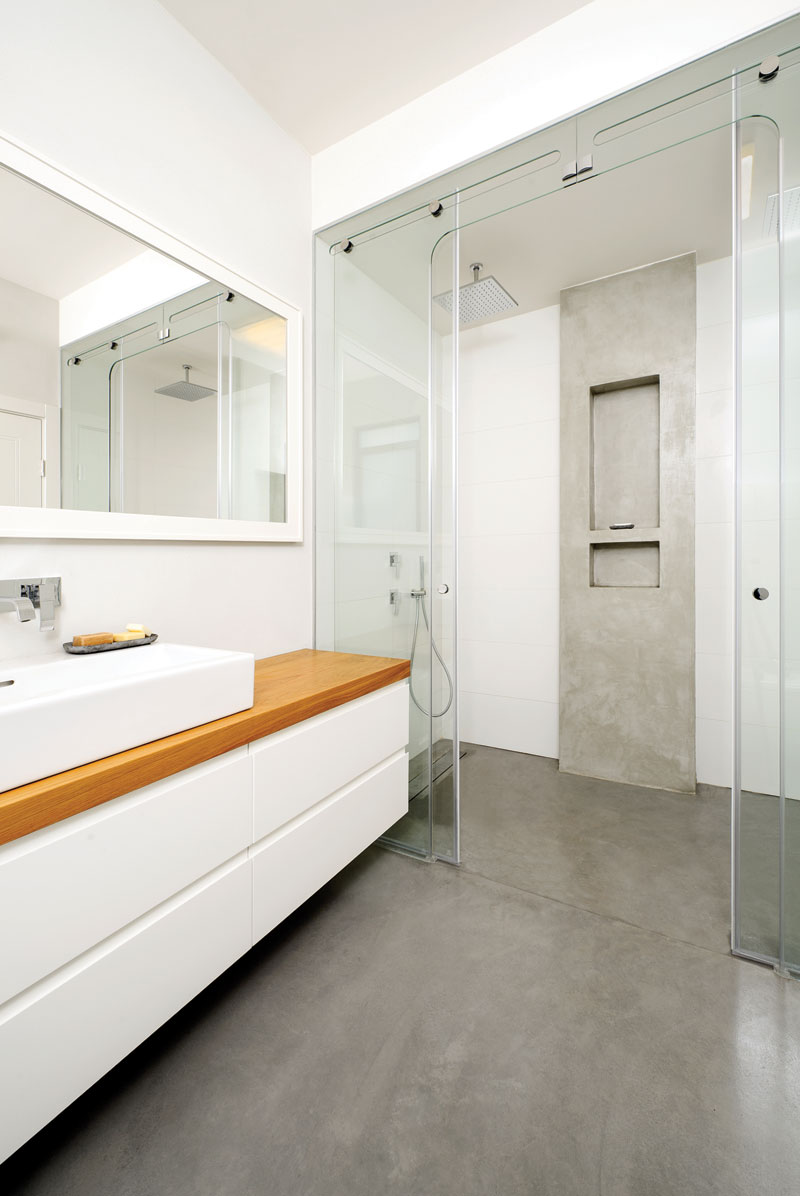 17 Concrete Bathroom Flooring Designs Ideas Design