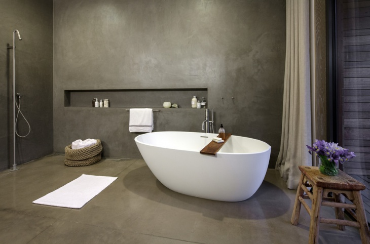17+ Concrete Bathroom Flooring Designs, Ideas | Design ...