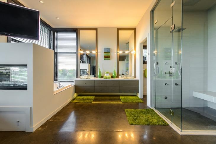 Polished Floor Decor Bathroom Idea