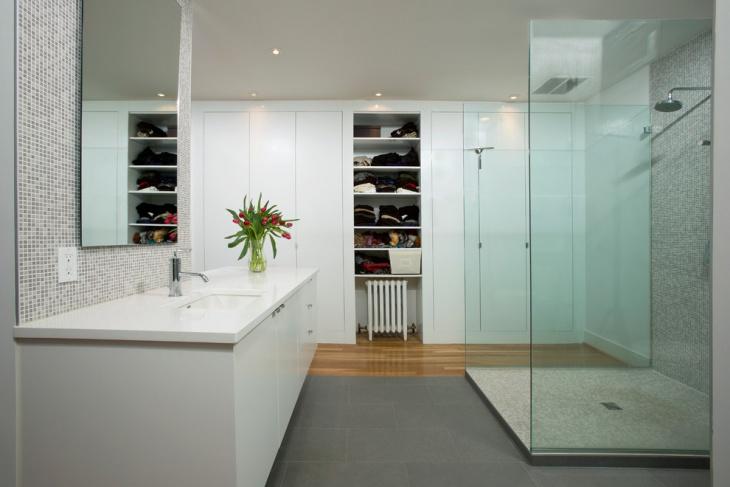 Concrete Floor Shower Idea