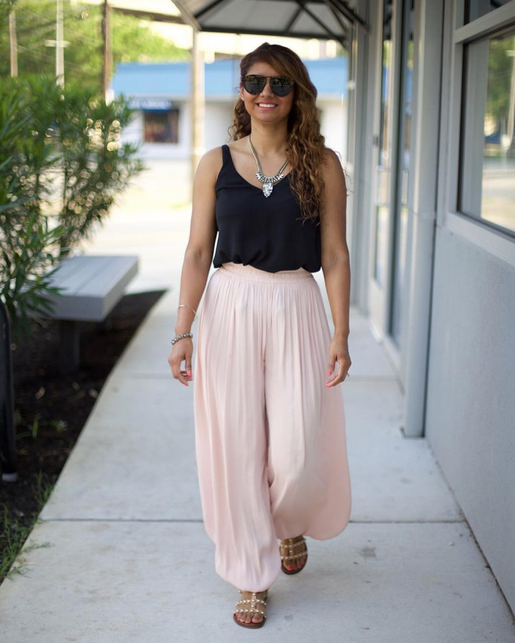 pink and black outfit for women