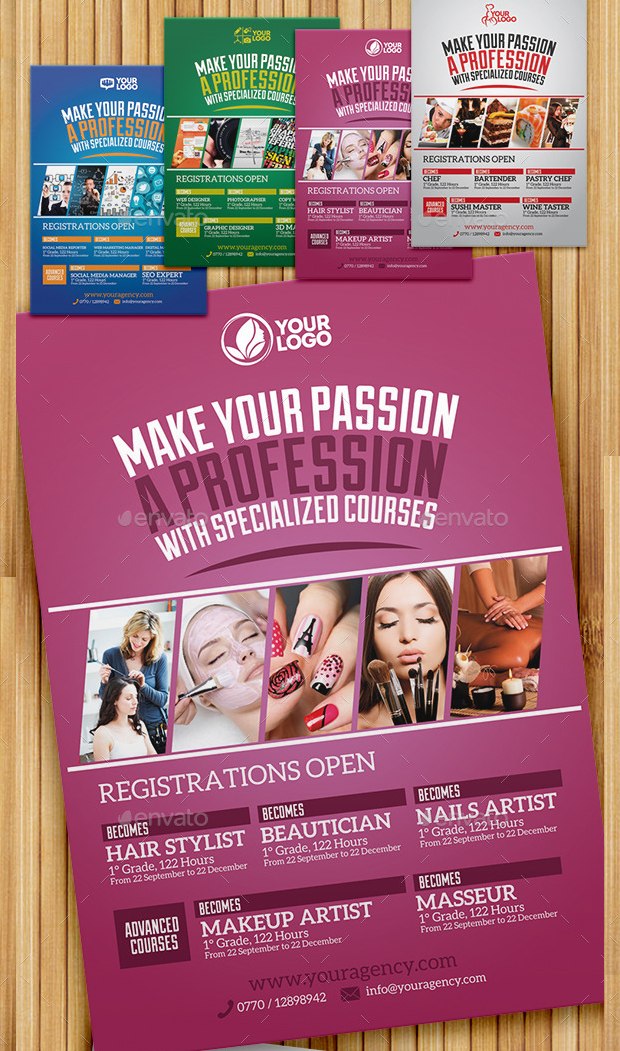 Professional Course Flyer Template