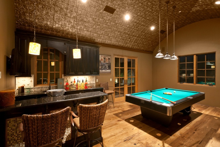 curve ceiling tile design