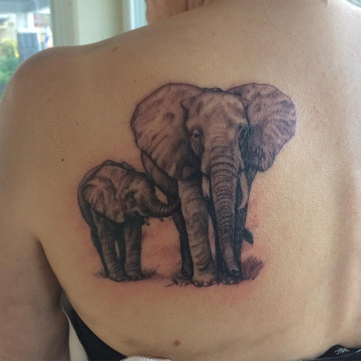 realistic elephant tattoo design