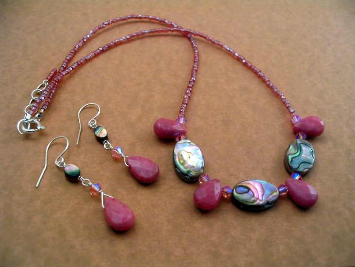 Vintage rhodonite Necklace Design